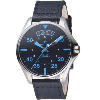 【HAMILTON 漢米爾頓】卡其航空系列Air Zermatt機械腕錶(H64625731 皮帶) 推薦  HAMILTON 漢米爾頓