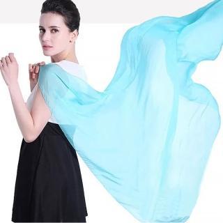 【Seoul Show首爾秀】仿真絲超大版素色雪紡圍巾披肩(防寒保暖)  Seoul Show首爾秀