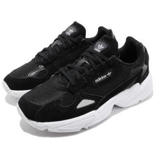 【adidas 愛迪達】休閒鞋 Falcon 老爹鞋 運動 女鞋 愛迪達 低筒 潮流 明星款 穿搭 復古 黑 白(B28129)好評推薦  adidas 愛迪達