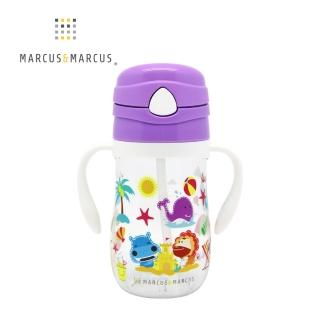 【MARCUS&MARCUS】動物樂園Tritan吸管學習杯(鯨魚)  MARCUS&MARCUS