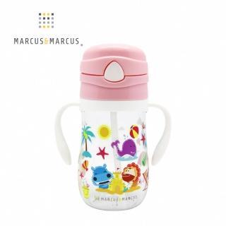 【MARCUS&MARCUS】動物樂園Tritan吸管學習杯(粉紅豬)  MARCUS&MARCUS