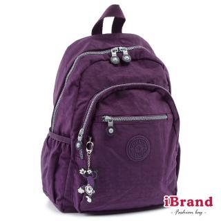 【i Brand】趣味派對尼龍口袋後背包(神秘紫)真心推薦  i Brand