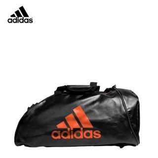 【adidas 愛迪達】皮革多功能運動背包 S 黑紅強力推薦  adidas 愛迪達