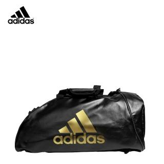 【adidas 愛迪達】皮革多功能運動背包 S 白金  adidas 愛迪達