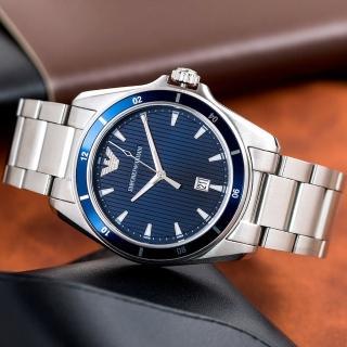 【EMPORIO ARMANI】流線紳士風格精品錶(AR11100)  EMPORIO ARMANI