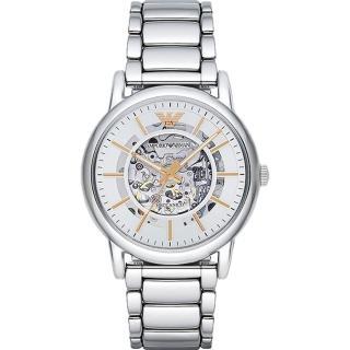 【EMPORIO ARMANI】爵士魅力鏤空設計機械錶(AR1980)  EMPORIO ARMANI