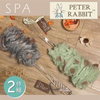 【PETER RABBIT 比得兔】SPA潔膚沐浴刷2入組(專櫃精品)  PETER RABBIT 比得兔