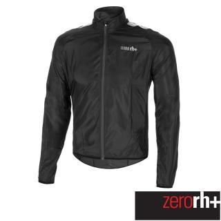 【ZeroRH+】義大利專業收納型超輕量易收折反光風衣(黑色 SSCX563_R90)強力推薦  ZeroRH+