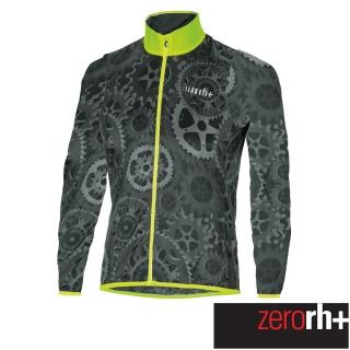 【ZeroRH+】義大利專業收納型超輕量易收折反光風衣(黑/螢光黃 SSCX563_R91)  ZeroRH+