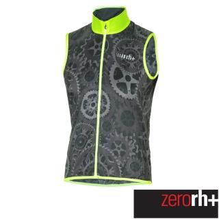 【ZeroRH+】義大利專業收納型超輕量易收折反光背心風衣(黑/螢光黃 SSCX564_R91)強力推薦  ZeroRH+
