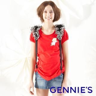 【Gennies 奇妮】小天使素面上衣(紅/藍/白G3127)強力推薦  Gennies 奇妮