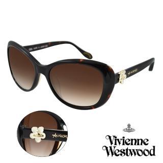【Vivienne Westwood】英國薇薇安魏斯伍德復古小花星球太陽眼鏡(琥珀 AN802M02)推薦折扣  Vivienne Westwood