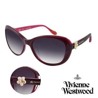 【Vivienne Westwood】英國薇薇安魏斯伍德復古小花星球太陽眼鏡(紫 AN802M03)好評推薦  Vivienne Westwood