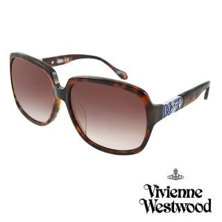 【Vivienne Westwood】英國薇薇安魏斯伍德復古撞色星球太陽眼鏡(琥珀 AN757M02)  Vivienne Westwood
