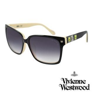 【Vivienne Westwood】英國薇薇安魏斯伍德復古彩繪鉚釘太陽眼鏡(黑 AN752M01)  Vivienne Westwood