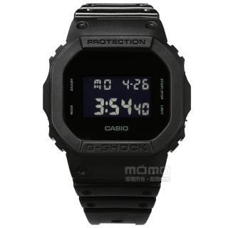 【CASIO 卡西歐】G-SHOCK 簡約經典 電子液晶 碼錶計時 防水200米 運動 橡膠手錶 黑色 44mm(DW-5600BB-1)好評推薦  CASIO 卡西歐