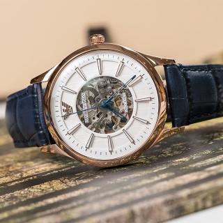 【EMPORIO ARMANI】尊貴紳士鏤空設計機械錶(AR1947)  EMPORIO ARMANI