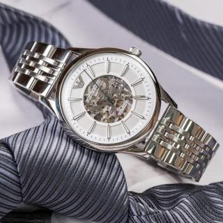 【EMPORIO ARMANI】紳士品味鏤空設計機械錶(AR1945)真心推薦  EMPORIO ARMANI