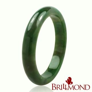 【BRILLMOND JEWELRY】典藏頂級天然和闐碧玉手鐲(12MM)  BRILLMOND JEWELRY