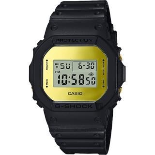 【CASIO 卡西歐】G-SHOCK 35周年 MIRROR DW-5600 經典王者手錶-鏡面金(DW-5600BBMB-1)  CASIO 卡西歐