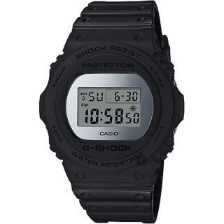 【CASIO 卡西歐】G-SHOCK 35周年 MIRROR DW-5700 經典王者手錶-鏡面銀(DW-5700BBMA-1)  CASIO 卡西歐
