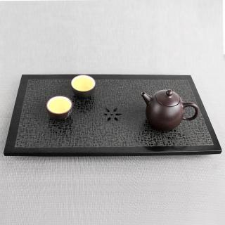 【生活禪】玄武岩石雕茶盤-出雙入對 B21-016(40x22x2.5cm)  生活禪