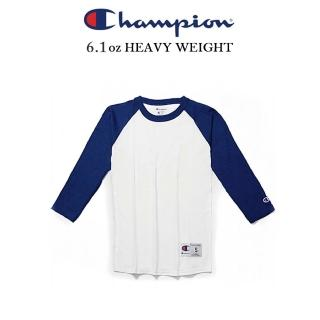 【Champion】CHAMPION RAGLAN冠軍美規接袖七分T 電繡小標 棒球好評推薦  Champion