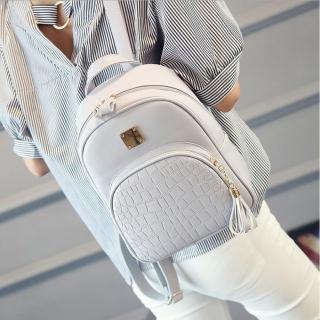 【ROYALLIN 蘿林嚴選】雙肩女士背包新款韓版學院風休閒包(三色任選)  ROYALLIN 蘿林嚴選