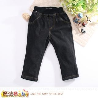 【魔法Baby】男童長褲 鬆緊帶彈性牛仔長褲(k60680)推薦折扣  魔法Baby