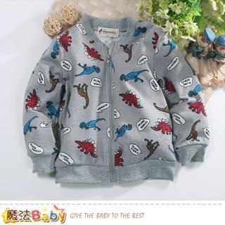 【魔法Baby】兒童外套 舒適棉柔薄款外套(k60687)好評推薦  魔法Baby