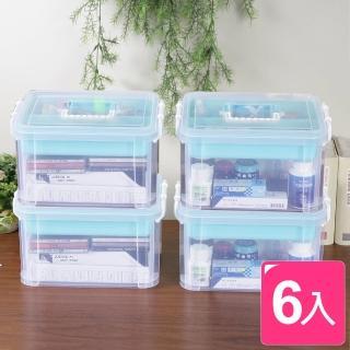 【真心良品】布蕾蒂手提雙層整理箱_9L(6入)  真心良品