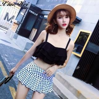 【小薇的店】韓版新款時尚流行二件式鋼圈比基尼泳裝(NO.8512黑)  小薇的店