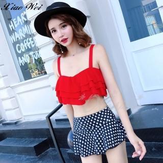 【小薇的店】韓版新款時尚流行二件式鋼圈比基尼泳裝(NO.8512-1紅)好評推薦  小薇的店