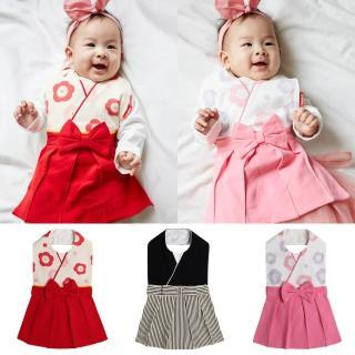 【Baby童衣】日本和服造型長版圍兜 82029(共3色)  Baby童衣