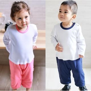 【Baby童衣】簡約假兩件長袖素面連身衣 82056(共2色)好評推薦  Baby童衣