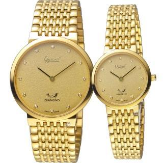 【Ogival 愛其華】今生今世薄型簡約對錶(385-025GK+385-035LK)  Ogival 愛其華