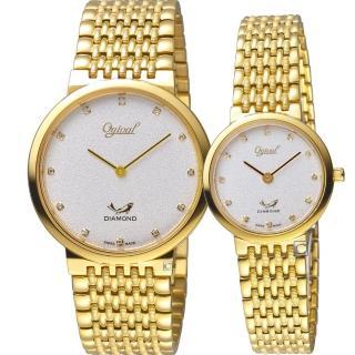 【Ogival 愛其華】今生今世薄型簡約對錶(385-025GK-S-385-035LK-S)好評推薦  Ogival 愛其華