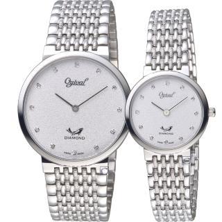 【Ogival 愛其華】今生今世薄型簡約對錶(385-025GW+385-35LW)  Ogival 愛其華