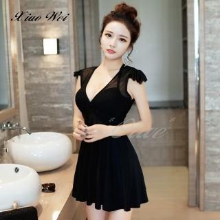 【小薇的店】時尚流行韓版短袖連身裙泳裝(NO.0150-8)  小薇的店