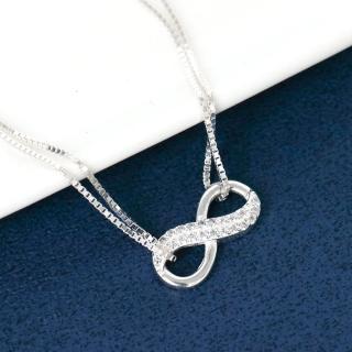 【玖飾時尚】銀飾 水鑽無限符號純銀手鍊(925純銀)  玖飾時尚