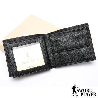 【SWORD PLAYER】莎普爾商務菁英專屬真牛皮4卡2照零錢袋短夾 推薦  SWORD PLAYER