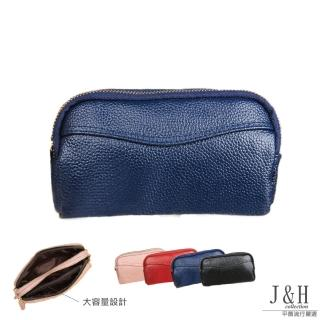 【J&H collection】超實用多用途手拿錢包(粉色 / 寶藍色 / 黑色 / 酒紅色)  J&H collection