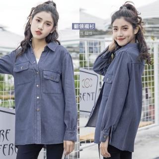【J&H collection】韓版高質棉牛仔上衣 M-XL(藍色)  J&H collection