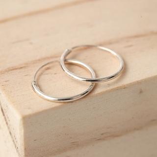 【玖飾時尚】925純銀圈圈耳針耳環(925純銀)  玖飾時尚