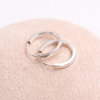 【玖飾時尚】925純銀圓型方管耳針耳環(925純銀)強力推薦  玖飾時尚