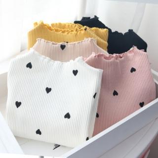 【小衣衫童裝】滿版愛心印花長袖螺紋內搭上衣(1070918)  小衣衫童裝