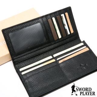 【SWORD PLAYER】莎普爾商務菁英專屬真牛皮款兩折式長夾 推薦  SWORD PLAYER