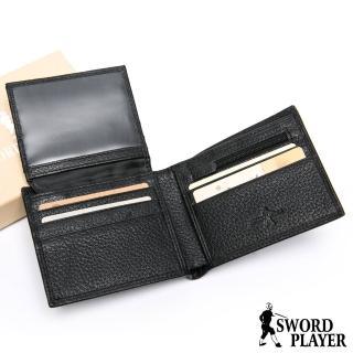 【SWORD PLAYER】莎普爾商務菁英專屬真牛皮8卡1照短夾  SWORD PLAYER