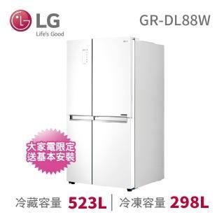 【LG 樂金】821公升門中門對開冰箱(GR-DL88W)  LG 樂金