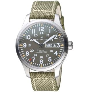 【HAMILTON 漢米爾頓】卡其野戰系列迷彩時尚腕錶(H70535081)強力推薦  HAMILTON 漢米爾頓